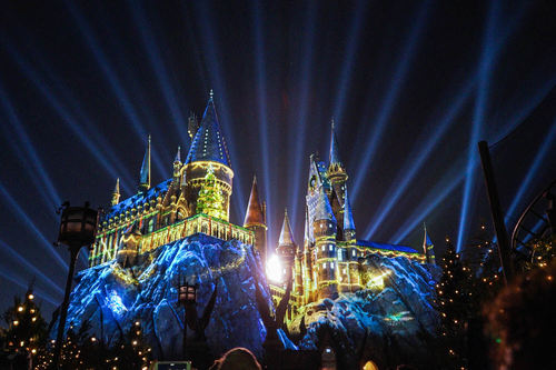 城堡建筑 3D投影燈光秀設計 3D projection light show design of Castle Building
